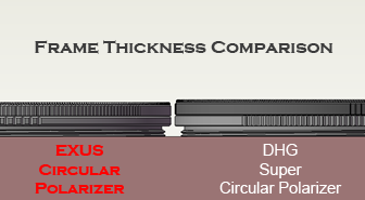 Exus Frame Thickness Comparison